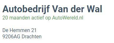 Autobedrijf Van der Wal