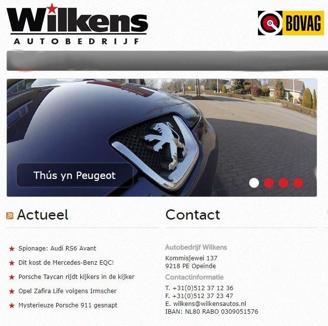Wilkens autobedrijf Opeinde